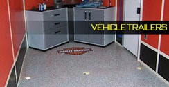 Vehicle trailer epoxy floor example