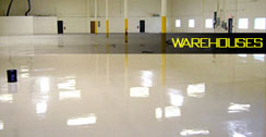 Warehouse epoxy floor example