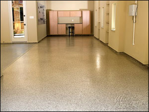 Original Color Chips Garage Floor Photo Gallery - Man Cave 1