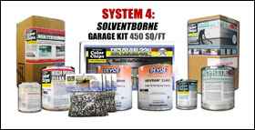 "System 4 ""Solventborne"" 2 Car Garage Epoxy Paint"
