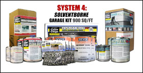 "System 4 ""Solventborne"" 4 Car Garage Epoxy Paint"